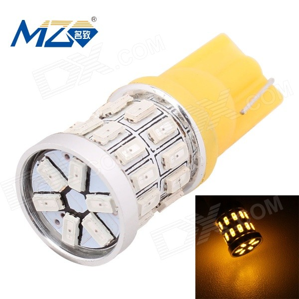 MZ T10 3W 597nm 360lm SMD 3014 Yellow Car Lamp - Yellow (12V)