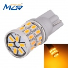 MZ T10 3W Car LED Clearance Lamp Golden Light 597nm 360lm SMD 3014 - Silver (12V)