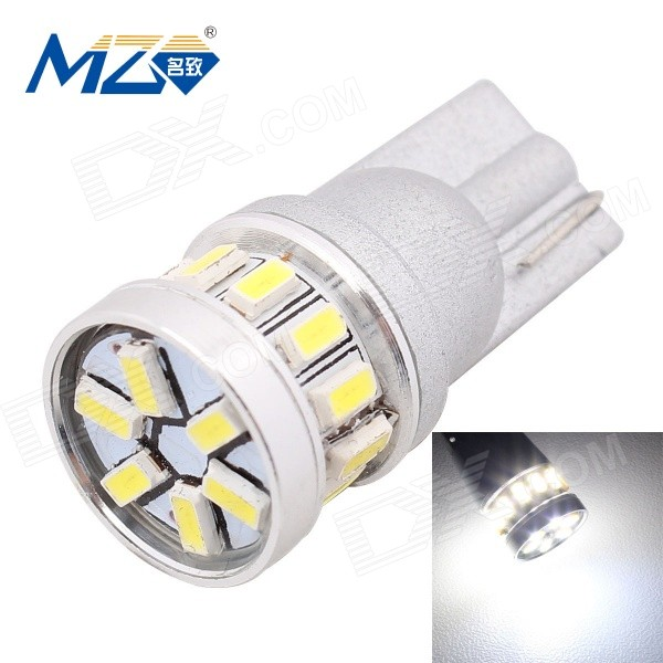 MZ T10 1.8W 216lm 6500K 18-SMD 3014 LED White Light Car Lamp (12V)Tail Lights<br>Color BIN18SMD White ModelT10-3014-18smdQuantity1 DX.PCM.Model.AttributeModel.UnitMaterialPCBForm  ColorSilverEmitter TypeLEDChip BrandOthers,3014 SMD LEDChip Type3014 SMD LEDTotal EmittersOthers,18PowerOthers,1.8WColor Temperature6500 DX.PCM.Model.AttributeModel.UnitTheoretical Lumens270 DX.PCM.Model.AttributeModel.UnitActual Lumens216 DX.PCM.Model.AttributeModel.UnitRate Voltage12Waterproof FunctionNoConnector TypeT10ApplicationClearance lampPacking List1 x LED bulb<br>