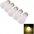 YouOKLight E27 3W LED Ceramic Light Bulbs Warm White 280lm 3000K 6-SMD 5730 - White (AC220V / 5PCS)