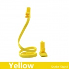360 Degrees Rotating Snake Style Neck Wearable Flexible Smartphone Stand & Selfie Monopod - Yellow