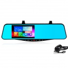 "5.0"" Touch Dual Cam Car DVR Android 1080P Rearview Mirror GPS Navigator w/ WiFi, FM, 8GB Memory"