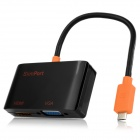 SlimPort to VGA / HDMI Combo Adapter Converter - Black