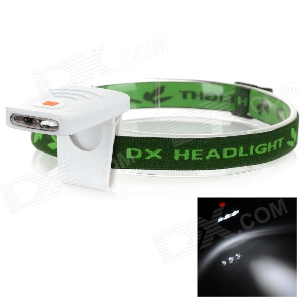 Outdoor 3-LED Rechargeable Infrared Induction White Light Headlamp