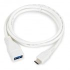 "USB 3.1 AF Female to USB Type C Male Cable Adapter w/ OTG for 13"" MacBook Pro & Chromebook Pixel"