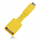 Universal Micro USB Male to USB Female OTG Charging Data Sync Cable Adapter for Cellphone - Yellow