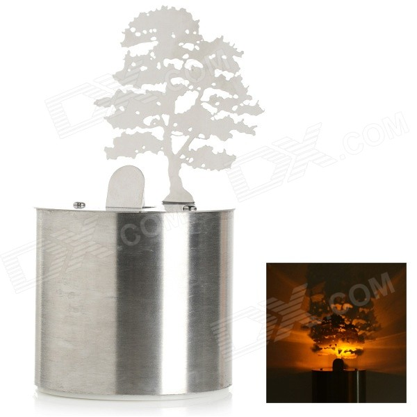 ET0001 0.2W Cedar Candle Decor LED Shadow Projection Night Light