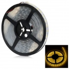 36W 5050 SMD LED Light Strip Warm White 3500K 4800lm - Black + White (5M / AC 12V / EU Plug)