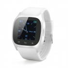 "M26 1.4"" Wearable Bluetooth V3.0 Smart Watch w/ Hands-free Calls, Pedometer, Altimeter - White"