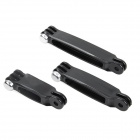 DUALANE- 3-in-1 3-in-1 Camera Extension Arm Set for GOPRO Hero 2/3/3+/4 - Black