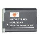 DSTE 3.6V / 2300mAh NB-12L Battery for Canon PowerShot G1X Mark II / N100 Camera