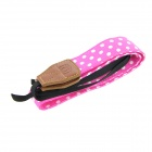 Casual Camera Neck Strap Belt - Pink + White (63cm)