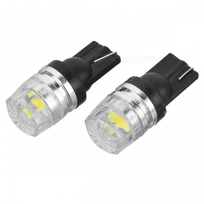 T10 0.5W 8000K 80lm White Car Lamp (12V / 2PCS)