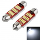 Festoon 39mm 5.5W LED Car Reading Lamp / License Plate Light White 6000K 110lm SMD 2070 (12V / 2PCS)