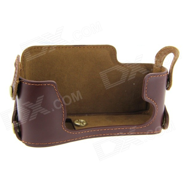 Casual Leather Camera Bag for Fuji XE2 - Brown