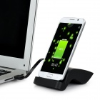 S Pattern Charging Dock + Data Cable for Samsung Galaxy S6 - Black