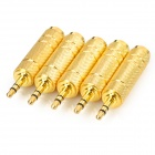 3.5mm Male to 6.5mm Female Microphone Adapters - Gold (5PCS)