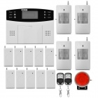 "GSM 2.6"" LCD Wireless Smart Home Security Alarm System Set - White + Black (EU Plug / 6 x AAA)"