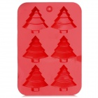 DIY Christmas Trees Shape Silicone Cake Maker Baking Mold - Red