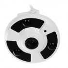1.3MP 360 Degrees Fisheye IP Camera w/ 3-IR-LED - White (US Plug)