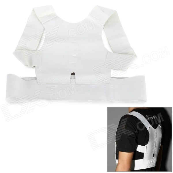 Magnetic Humpback Posture Correction Belt - WhiteForm ColorWhiteMaterialWeave clothQuantity1 DX.PCM.Model.AttributeModel.UnitShade Of ColorWhiteDisplayNoControl ModePosture correctionTarget PositionBackPhysical therapy functionPosture correctionPower SupplyOthers,Power freePower AdapterWithout Power AdapterPacking List1 x Correction belt<br>