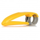 PP Handle Stainless Steel Banana Fruit Slicer - Yellow + Silver