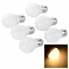 E27 3W LED Bulb Lamp Warm White Light 3000K 100lm SMD 2835 - White (AC 220V / 6PCS)