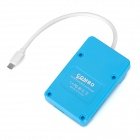 OTG + 3*USB 2.0 + Micro SD / SD / MMC Adapter for Samsung - Light Blue