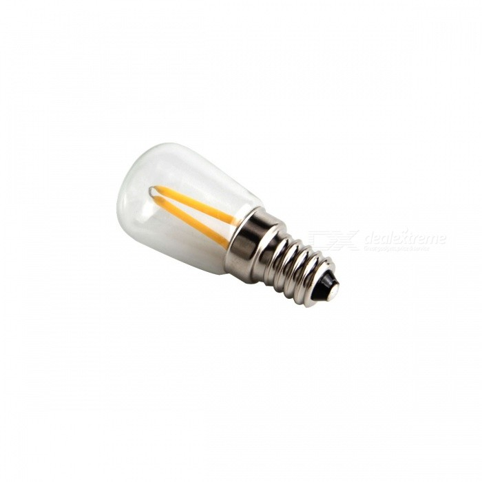 E14 1.5W LED Filament Bulb Warm White 3000K - Transparent + Silver