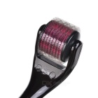 540*2.5mm Microneedle Facial Skin Care Roller - Black + Red