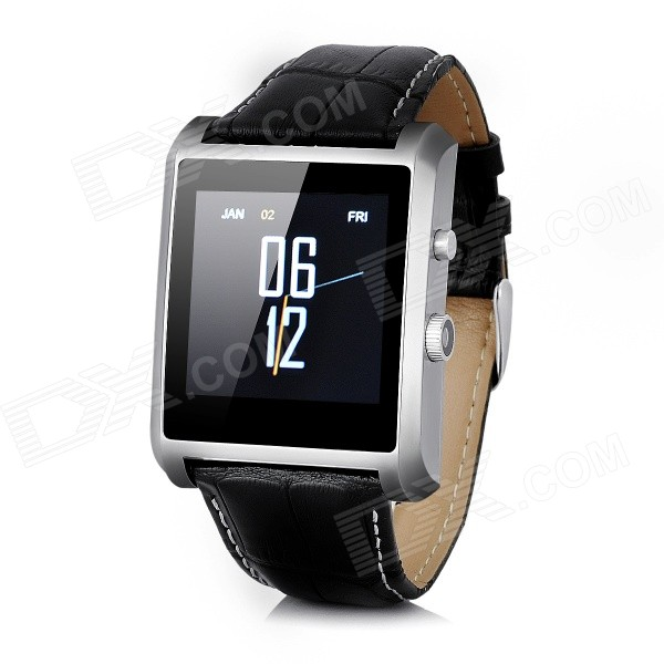 "1.54"" DM08 MTK2502 Smart Watch w/ 1.54"" IPS£¬ Bluetooth V4.0 - Black + Silver thumbnail"