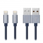 MOZIX Lightning 8Pin to USB Charging Cable for IPHONE - Blue Grey (1m)