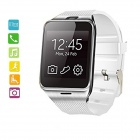 "GV18 1.54"" Wearable GSM Smart Phone Watch w/ NFC / Remote Control Camera - White + Silver"