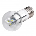 WALANGTING E27 3W 180lm 6500K 6xSMD 5630 LED White Light Dimmable Lamp Bulb - Transparent + Silver