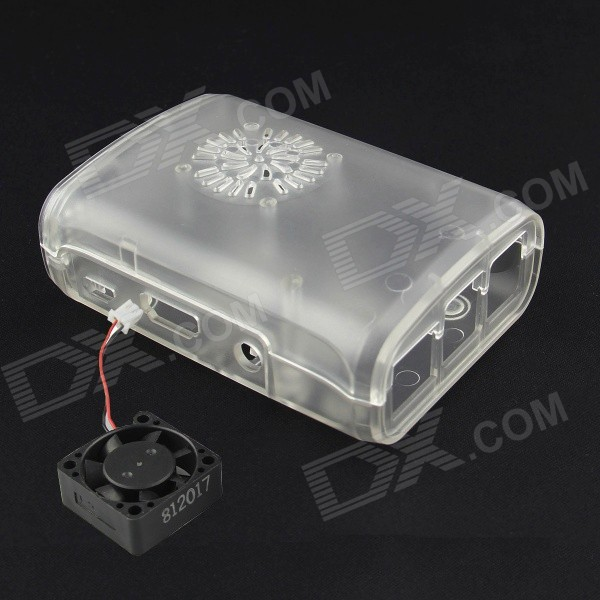 ABS Enclosure Box + Cooling Fan Kit w/ Camera / Display / GPIO