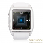 "TOP WATCH TW530D 1.54"" Waterproof Capacitive Touch Screen GSM Watch Phone w/ Quad-band - White"