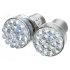 12V 18-LED Turning Signal and Break Light for Vehicles (White)