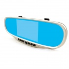 "Kemico KP715 5.0"" Android 4.0 Car Rearview Mirror GPS DVR - Golden"