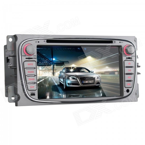 Joyous 1024 x 600 Android 4.4 Car DVD Player for Ford Focus - Black