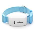 TKSTAR Mini Waterproof GSM / GPRS / GPS Strap Tracker for Pet Cat / Dog / Pig - White + Sky Blue