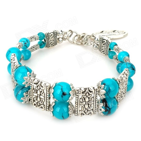 Mexican Turquoise German Silver Cuff Bracelet