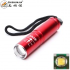 ZHISHUNJIA XP-E Q5 400lm 3-Mode Cool White Zooming Flashlight - Red (1 x 14500 / 1 x AA)