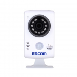 "ESCAM Keeper QF502 1/4"" CMOS 1.0MP 720P P2P IP Camera - White (AU)"