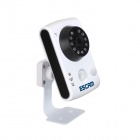 "ESCAM Keeper QF502 1/4"" CMOS 1.0MP 720P P2P IP Camera - White (EU)"