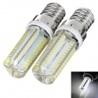 exLED E14 4W LED Lamp Bulb White Light 6000K 280lm 104-SMD 3014 (AC 110V / 220V, 2pcs)