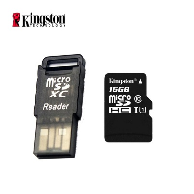 Kingston Class 10 16GB Micro SD / TF Card w/ Card Reader - Black
