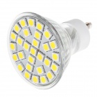 GU10 3W LED Spot Light Warm White 29-SMD 5050 170lm 3000K - Silver + White (AC 110~240V)