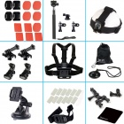 43 in 1 Outdoor Sports Accessories Bundle Kit for Gopro Hero 4 / 3+ / 3 / 2 / 1 - Black