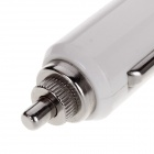 Skull USB Port 5V / 1A Car Charger Adapter - White + Silver (12~24V)