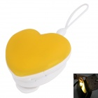 RUITAI Motion Activated Infrared Sensor Handbag Heart Light for Women - Yellow + White